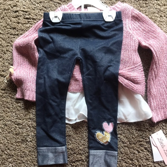 Little Lass Other - Little Lass 2-piece legging and sweater outfit